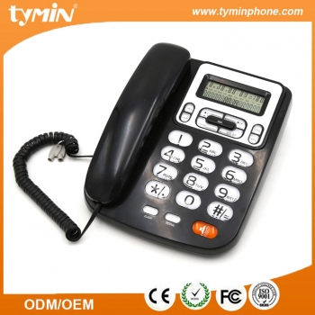 Guangdong Wholesale Fixed Desktop Caller ID Phone with Wall Mountable and Desktop Function(TM-PA5005)