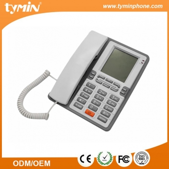 High Quality Single Line Corded Home Phones Set With Super LCD Display (TM-PA076)