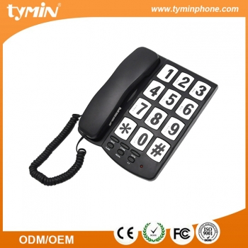 Nice Design Hearing Aid Compatible Function Big Key Button Fixed Telephone for Office and Home Use (TM-PA037)