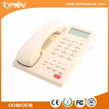 Wall mountable hotel hospitality telephone with caller ID function (TM-PA045)