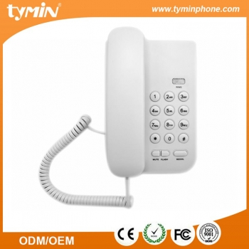 Shenzhen Hot Sale Good Design Basic Function Telephone with LED Incoming Calls Indicator for Home and Office Use (TM-PA016)