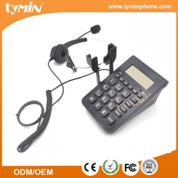 Good quality caller center phone with headset device for sale(TM-X006)