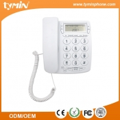 Basic wall mountable land line big button telephone with call id display (TM-PA036)