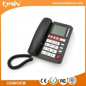 Large LCD Display Landline Analog Telephones with Blue Backlight (TM-PA096)