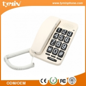 New arrival handset volume adjustable corded big button phone for home use (TM-PA015)