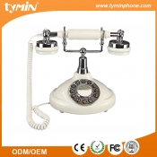 Retro Classic Design Lovingly Antique Phone In-House with Last Number Redial Function for Home Use (TM-PA198)