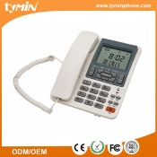 Wholesale White Color FSK/DTMF Super LCD Phone for Home (TM-PA079)