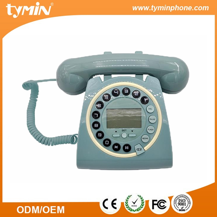 Caller Display Retro Telephone LCD Display Large Button-with Answer Machine Call Blocker Red Antique Telephone,office,hotel Corded Telephone Landline Corded Telephone